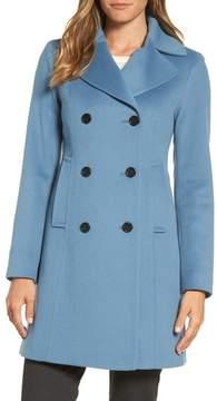 Fleurette Women's Double Breasted Loro Piana Wool Coat
