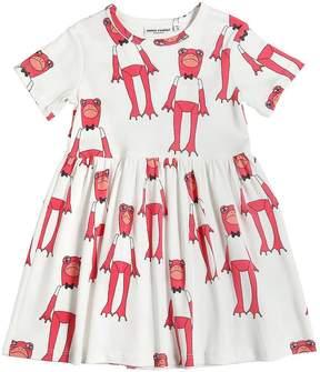 Mini Rodini Frog Print Organic Cotton Jersey Dress