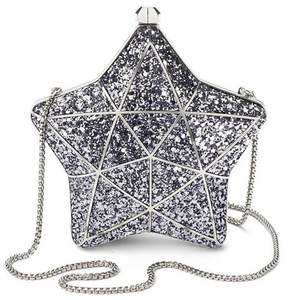Aspinal of London Star Clutch In Silver Glitter
