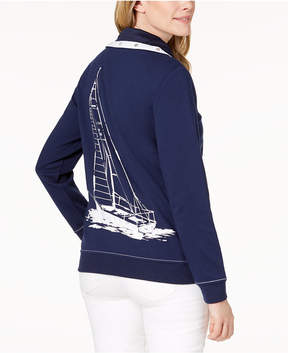 Alfred Dunner America's Cup Graphic Contrast Jacket