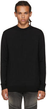 Balmain Black Zip Sweater