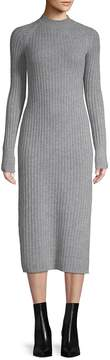 AG Adriano Goldschmied Women's Reign Cashmere & Wool Ribbed Midi Dress