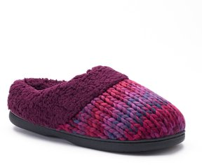 Dearfoams Women's Chunky Space-Dyed Knit Clog Slippers