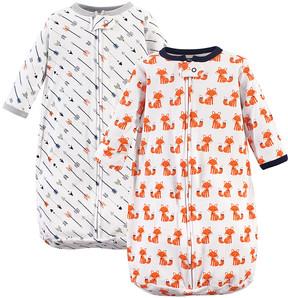 Hudson Baby Ivory Fox & Arrow Long-Sleeve Sleeping Bag Set - Newborn