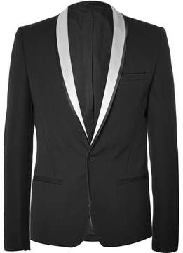 Haider Ackermann Black Slim-Fit Wool Tuxedo Jacket