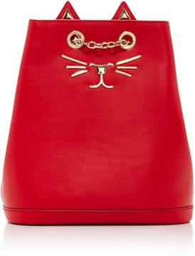 Charlotte Olympia Embellished Feline Leather Backpack