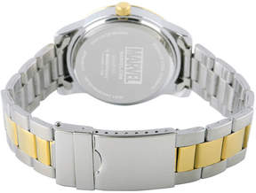 Marvel Classic Mens Two Tone Strap Watch-Wma000057