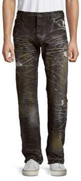 PRPS Agreement Distressed Cotton Denim Pants