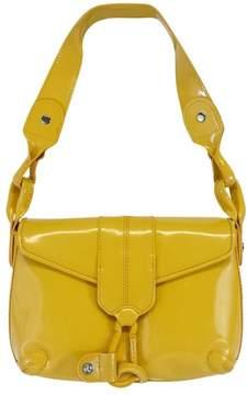 Donald J Pliner Yellow Patent Leather Carabiner Hook Bag