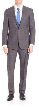Ralph Lauren Purple Label Glenplaid Wool Suit