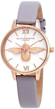 Olivia Burton 3D Bee White Dial Ladies Watch