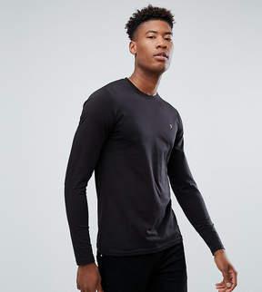 Farah TALL Farris Slim Fit Long Sleeve T-Shirt in Black