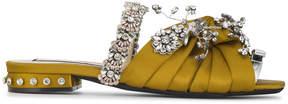 No.21 jewel embellished satin mules