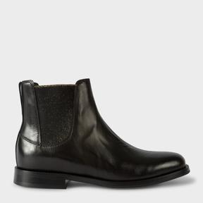 Paul Smith Women's Black Calf Leather 'Camaro' Chelsea Boots