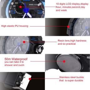 DAY Birger et Mikkelsen SKMEI Skmei Trendy 10 Digits Digital Men'S Student Watch 50m Waterproof Big Dial LCD Second Week Hour Minutes Display Watch