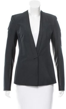 Calvin Klein Collection Leather-Paneled Fitted Blazer