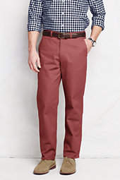Lands' End Men's Pre-hemmed Lighthouse Traditional Fit Chino Pants-Light Beige