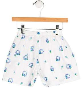 Rachel Riley Girls' Floral Print Mini Shorts