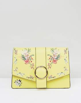 Asos HERO Floral Embroidered Shoulder Bag