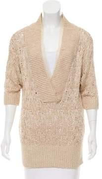 Alessandro Dell'Acqua Metallic Knit Sweater