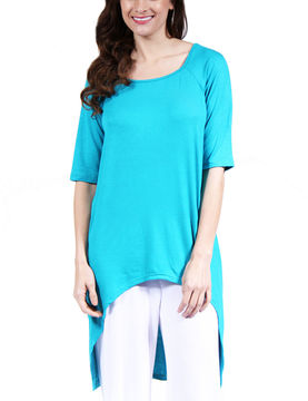 24/7 Comfort Apparel 3/4 Sleeve Extra Long Tunic Top