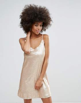 Darling Racer Back Sequin Cami Dress