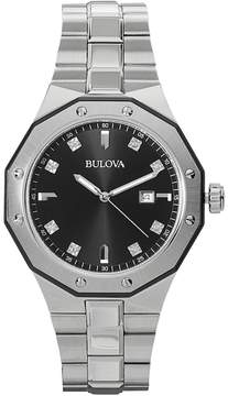Bulova Men's Marine Star Diamond Stainless Steel Watch - 98D103