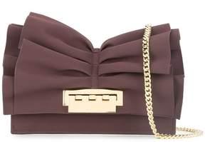 Zac Posen Earthette ruffle clutch bag
