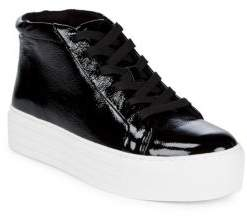 Kenneth Cole Aditi Patent Leather High Top Sneakers