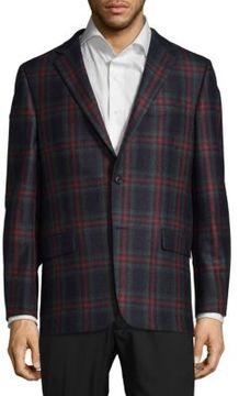 Hickey Freeman Milburn Plaid Wool Jacket