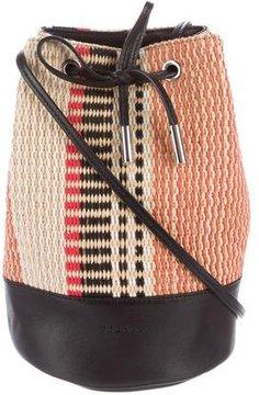 Sandro Leather-Trimmed Bucket Bag