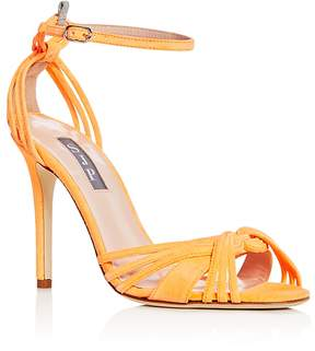 Sarah Jessica Parker Women's Willow Suede Ankle Strap High Heel Sandals