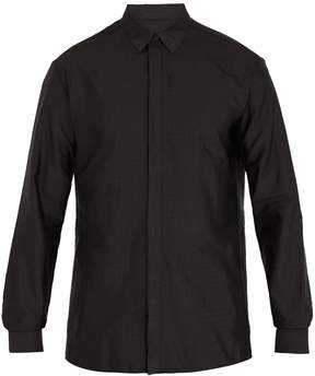 Haider Ackermann Polka-dot jacquard silk-blend shirt