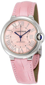 Cartier Ballon Bleu Automatic Pink Dial Ladies Watch