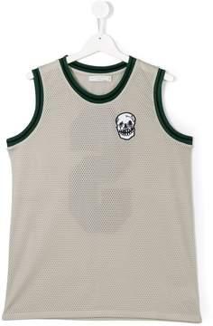 Stella McCartney Teen patch embellished mesh top