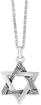 Effy Men's Textured Star Pendant Necklace in Sterling Silver