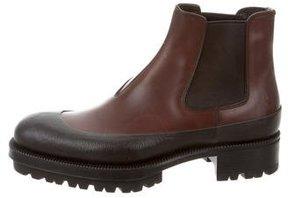 Prada Leather Chelsea Boots
