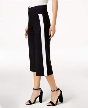 Bar III Racer-Stripe Cropped Pants, Created for Macy's