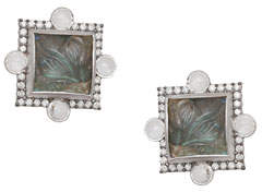 Coomi Affinity Carved Labradorite Stud Earrings