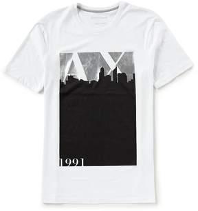 Armani Exchange Slim-FIt City Logo Short-Sleeve Tee