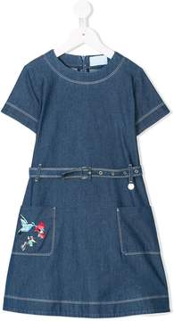 Lanvin Enfant belted denim dress