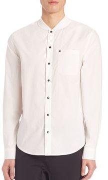 Madison Supply Metallic Buttoned Poplin Shirt
