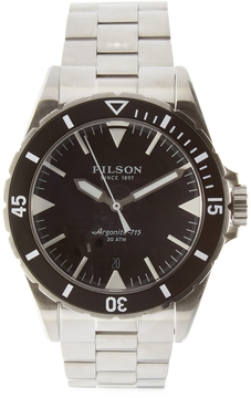 Filson Dutch Harbor 3HD Stainless Steel Watch, 43mm