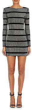 Balmain Women's Embellished Cotton-Blend Minidress