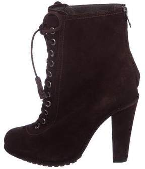 AllSaints Suede Lace-Up Booties