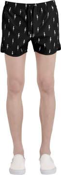 Neil Barrett Bolts Printed Nylon Swim Shorts