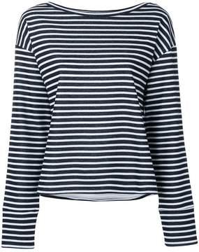 Eleventy striped round neck jumper