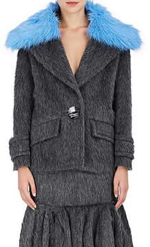 Prada Women's Fuzzy Wool-Alpaca One-Button Blazer