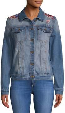 Driftwood Women's Geena Embroidered Denim Jacket