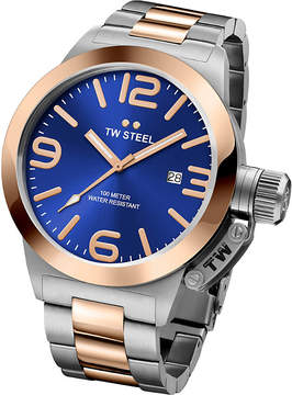 TW Steel CB141 Canteen rose gold and stainless steel watch